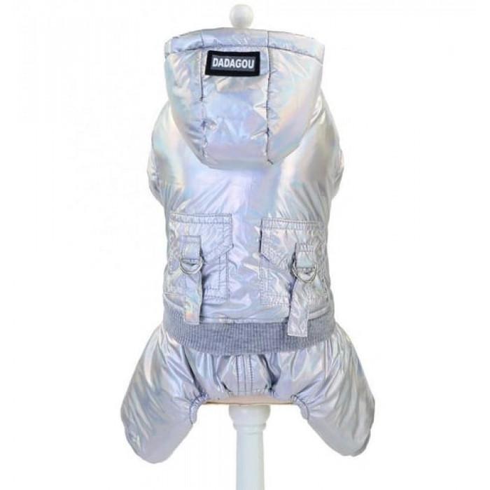 """Комбинезон """"DaDaGou"""", цвет серебристый, размер XL (длина спины 35 см)"""