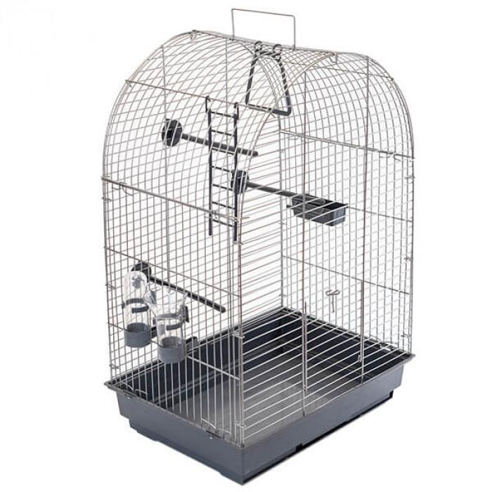 Клетка для птиц ECO Кеша, разбор., 42*30*65см (поилка, кормушка, жердочка)
