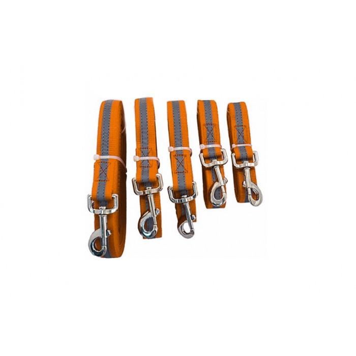 Повод синтетический ЧИП светоотражающий 25мм*3,0м, оранжевый