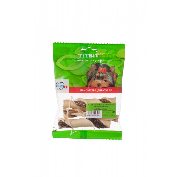 Titbit Палочки витые с начинкой - мягкая упаковка