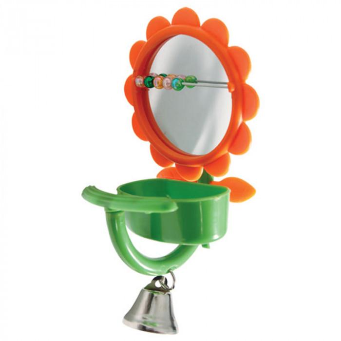 "Игрушка для птиц - зеркало ""Кормушка"", 75*150мм"