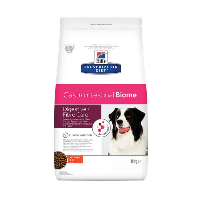 Корм Hill's Prescription Diet Gastrointestinal Biome для собак при расстройствах пищеварения и для заботы о микробиоме кишечника, c курицей, 10 кг
