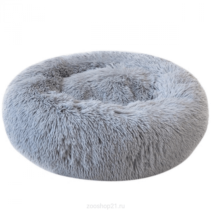 Круглая плюшевая лежанка диаметр 50см