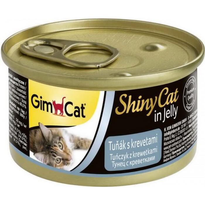 Консервы GimCat ShinyCat для кошек из тунца с креветками 70 г