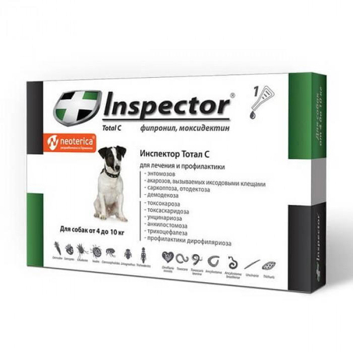 Inspector Total C Капли на холку для собак 4-10 кг, 1 пипетка