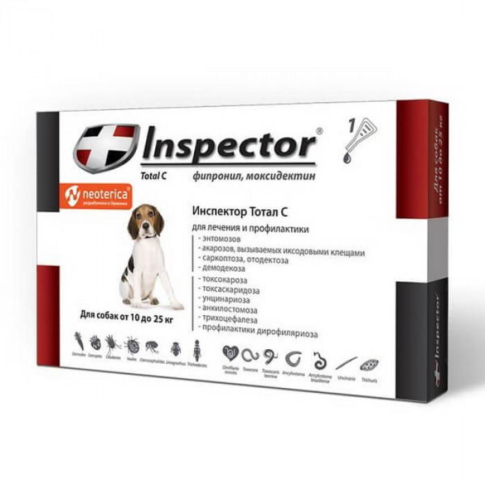 Inspector Капли на холку для собак 10-25 кг 1 шт., 1 пипетка