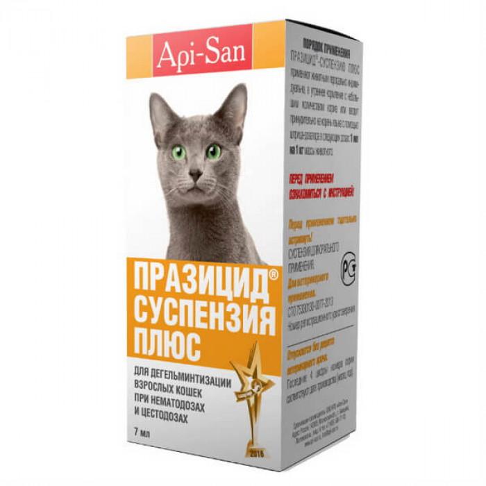 Празицид плюс для кошек, суспензия для орального применения, 7 мл