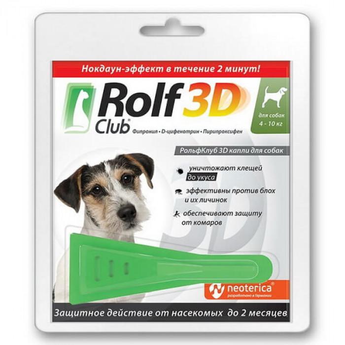 Rolf Club 3D Капли для собак, 4-10кг 1пипетка