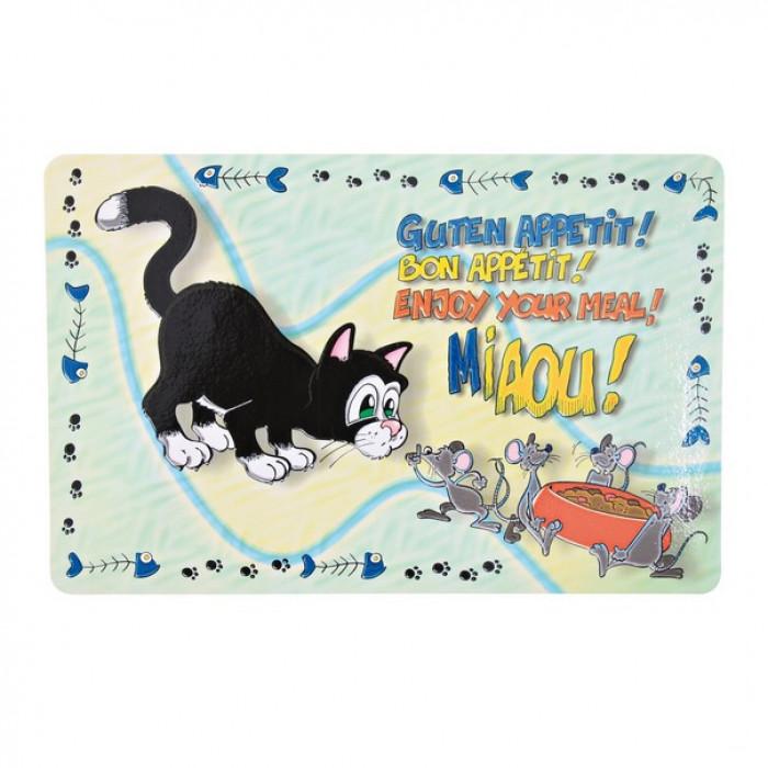 """Trixie Коврик под миску """"Кошка"""", 44х28 см"""