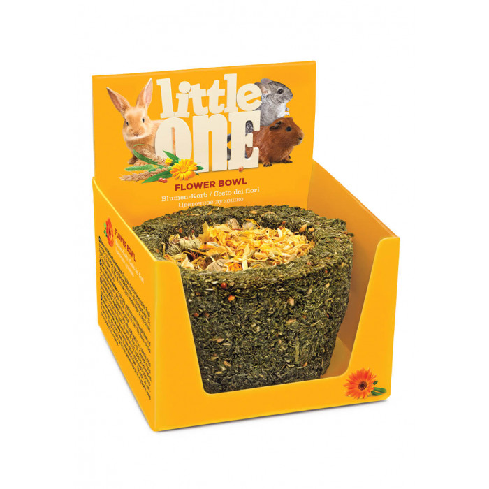 Little One Лакомство-игрушка Лукошко цветочное для всех видов грызунов, 120 г
