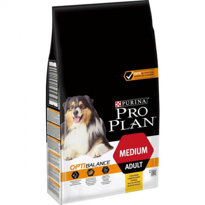 Корм PRO PLAN Medium OPTI BALANCE (комплекс, учитывающий возраст и телосложение) для собак средних пород, с курицей, 3 кг