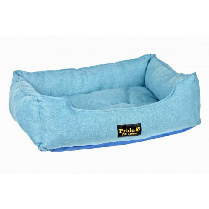 PRIDE Лежак Прованс, цвет голубой, 52х41х10 см