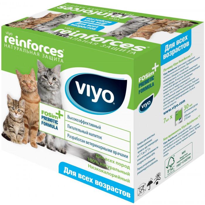 Пребиотик VIYO Reinforces CAT для улучшения микрофлоры кишечника и пищеварения КОШЕК всех возрастов (7 шт по 30 мл), 210 мл