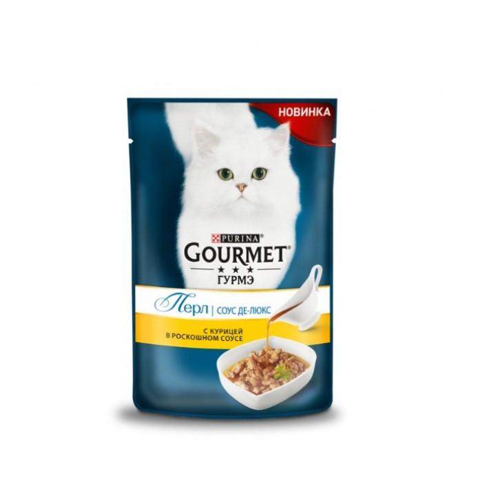 Gourmet Perle Соус де-люкс, с курицей 85 г