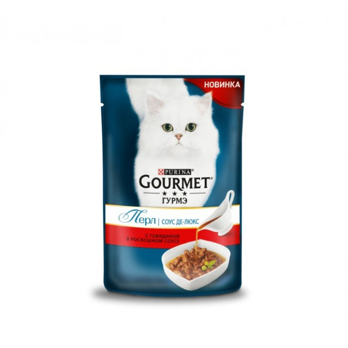 Gourmet Perle Соус де-люкс, с говядиной 85 г