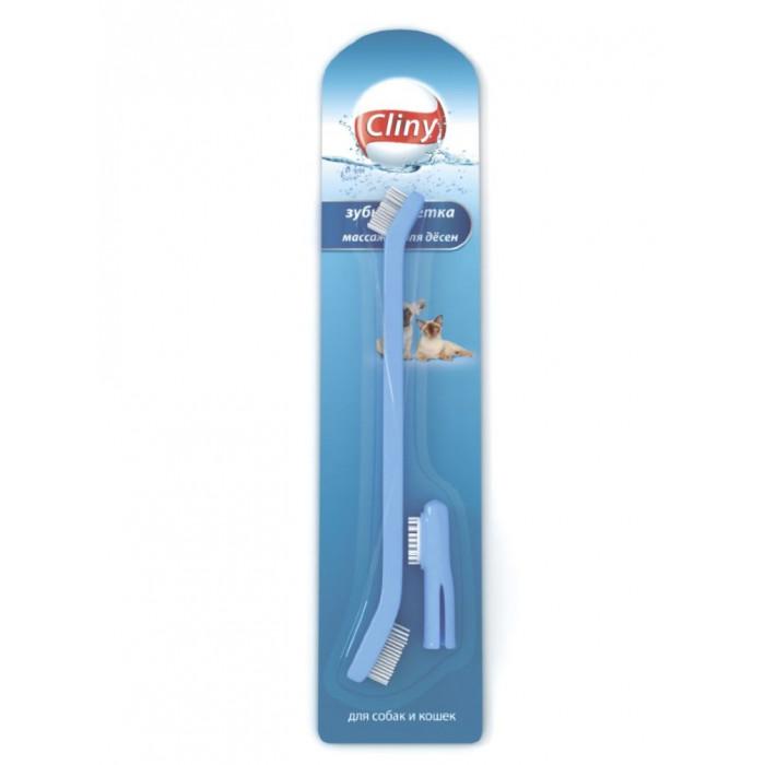 """Зубная щетка для животных """"Cliny"""", с массажером для десен"""