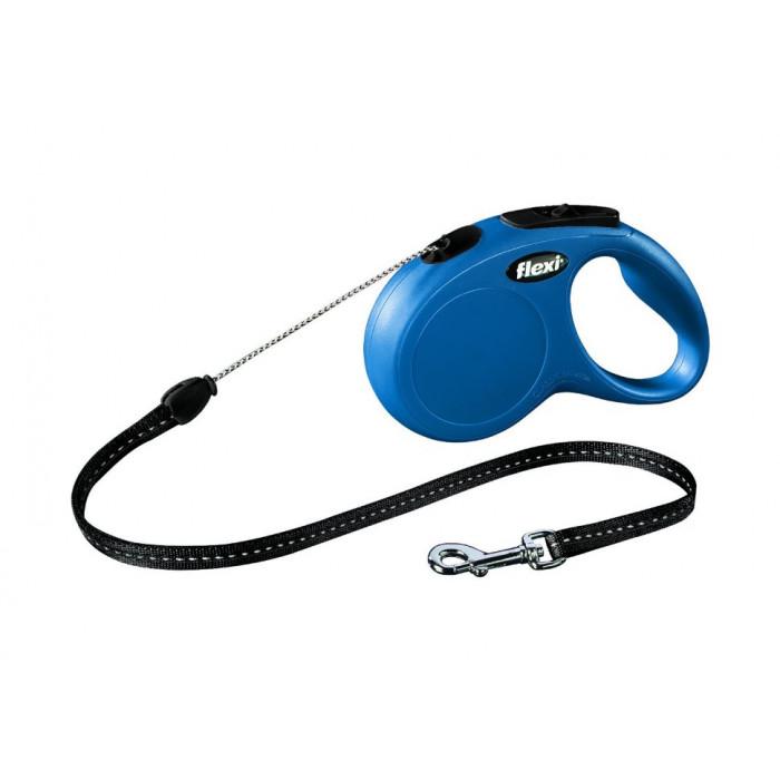 """Поводок-рулетка Flexi """"Classic M"""" для собак, до 20 кг синий 8 м"""