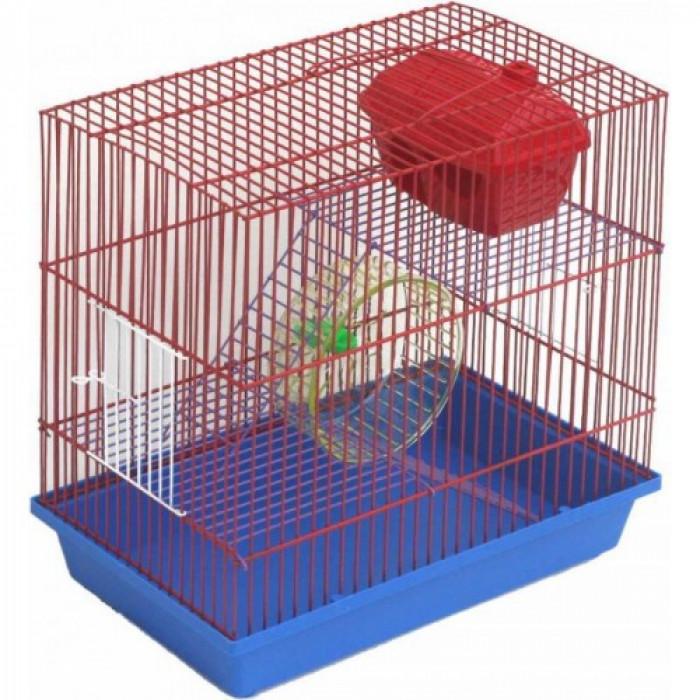 Клетка для грызунов полукруглая 2-х этажная комплект 37х22х34 см