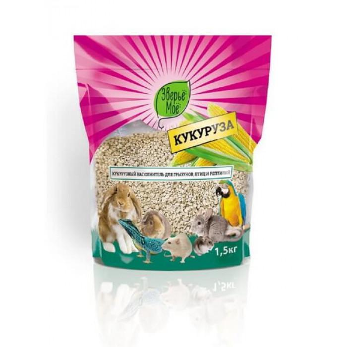 Зверье мое Наполнитель кукурузный для грызунов, птиц и рептилий 1.5 кг