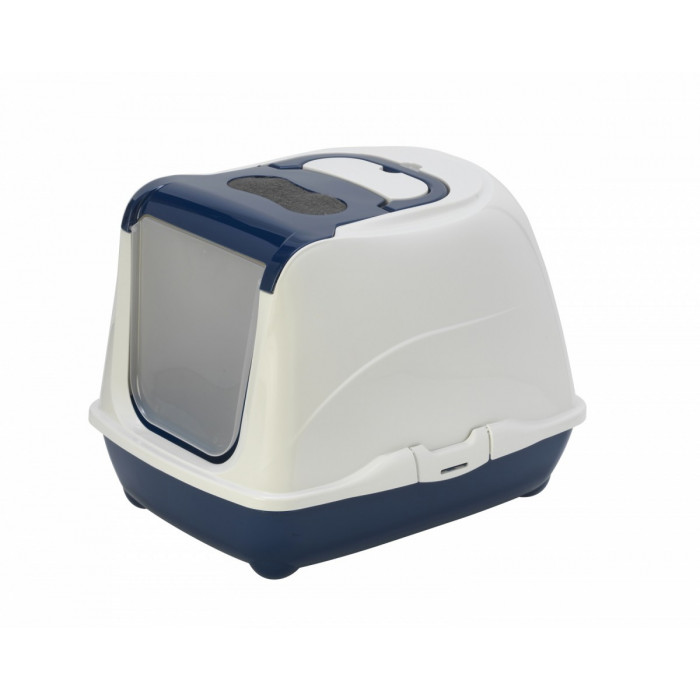 Туалет-домик Flip с угольным фильтром, 50х39х37см, черничный, 1,2 кг