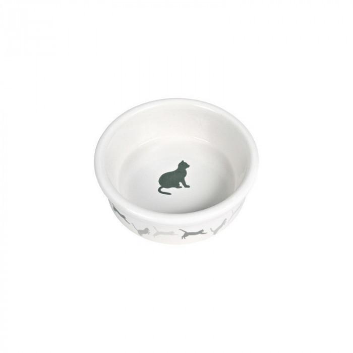"""Миска для кошек с рисунком """"Кошка"""", керамика 0,25л*ф11см"""