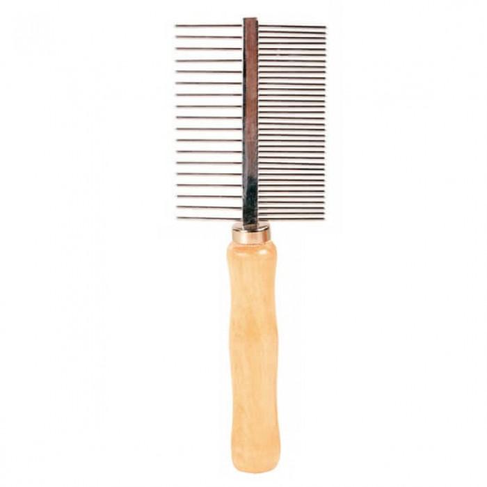 Trixie Расчёска с деревянной ручкой, 17 см