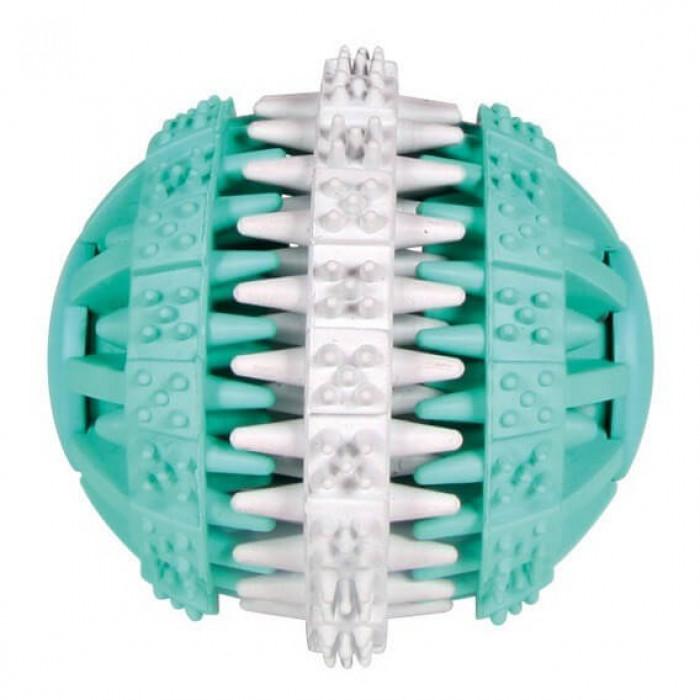 Trixie Мяч Denta Fun 6 см белый/зеленый