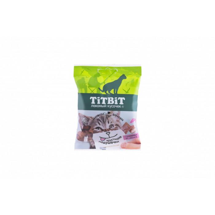 Titbit Хрустящие подушечки для кошек с паштетом из лосося 30 г