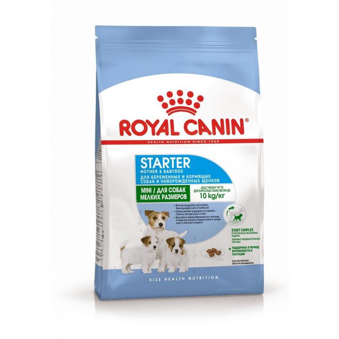 Корм Royal Canin Mini Starter для щенков малых пород до 2 мес., беременных и кормящих сук, 1 кг