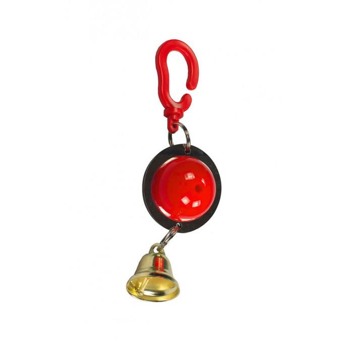 """Игрушка для попугаев на зеркале с колокольчиком """"1шарик""""18см"""
