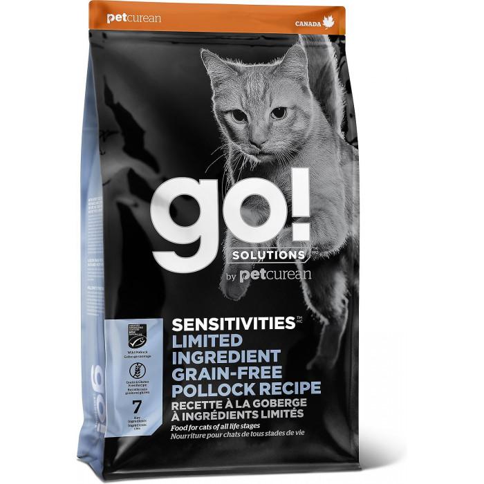 Корм Go! SENSITIVITIES Limited Ingredient Grain Free Pollock Recipe (беззерновой) для кошек с чувствительным пищеварением с минтаем, 3.63 кг