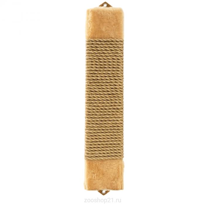 Когтеточка плоская, джут/мех 11/60 см (персик)