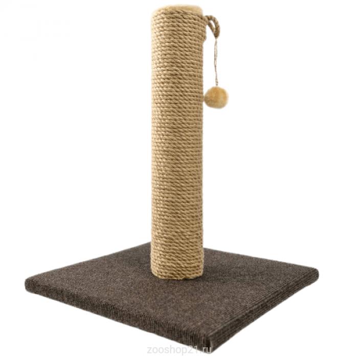 Когтеточка Столбик 50 см, ковролин коричневый