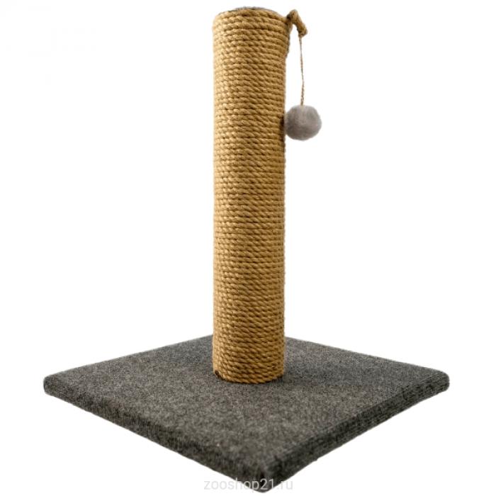 Когтеточка Столбик 50 см, ковролин серый