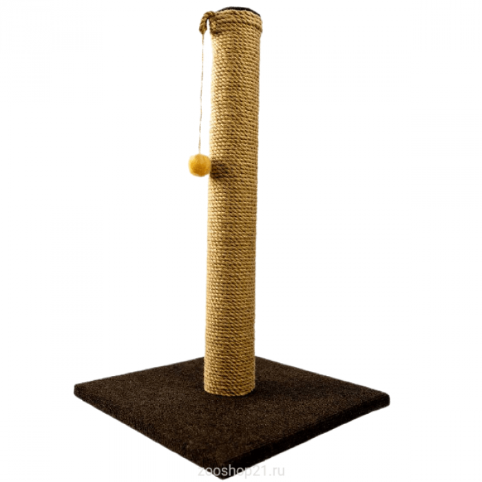 Когтеточка Столбик 75 см, ковролин коричневый