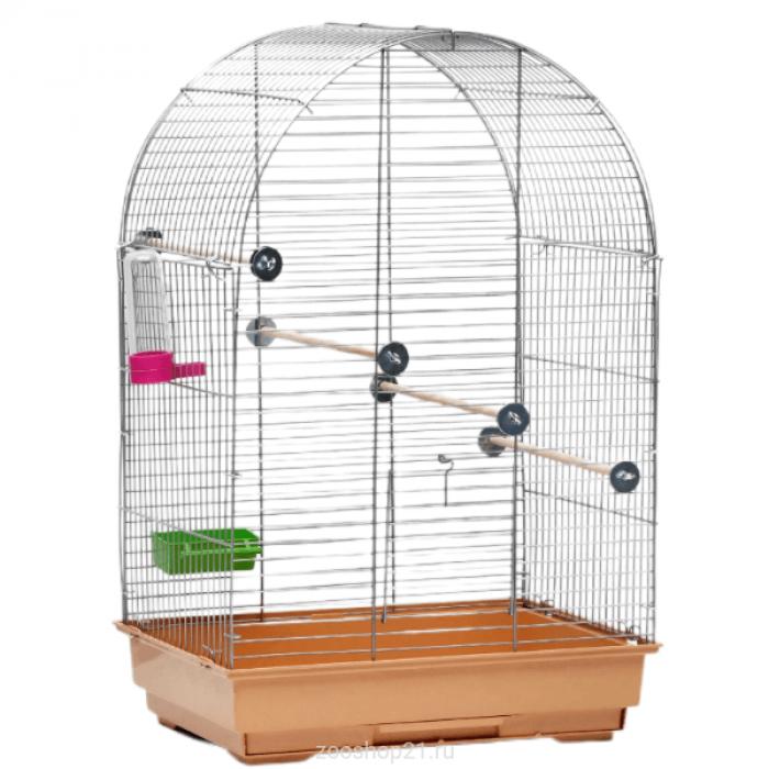 """Клетка для птиц """"Пижон"""" №101, хром , укомплектованная, 41 х 30 х 65 см, бежевая"""