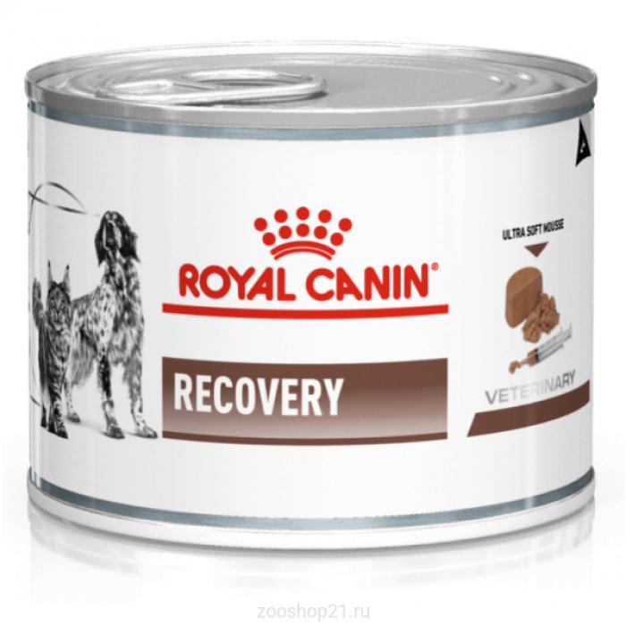 Корм Royal Canin Recovery (паштет) для собак и кошек в период восстановления после болезни, 195 г