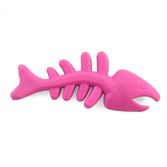 """Игрушка для собак из ц/литой резины """"Скелет рыбы"""", 175мм"""