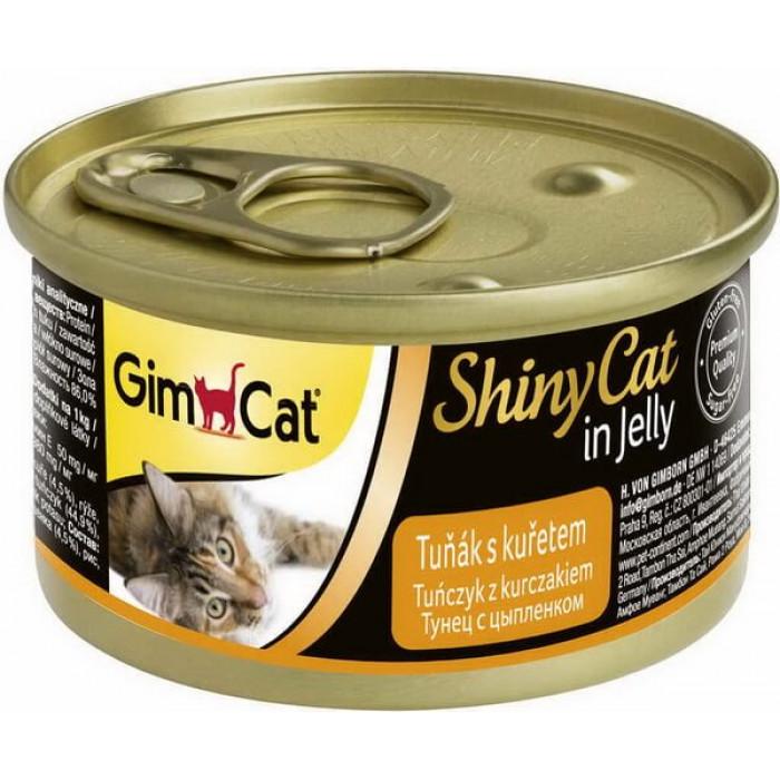 Консервы GimCat ShinyCat для кошек из тунца с цыпленком 70 г