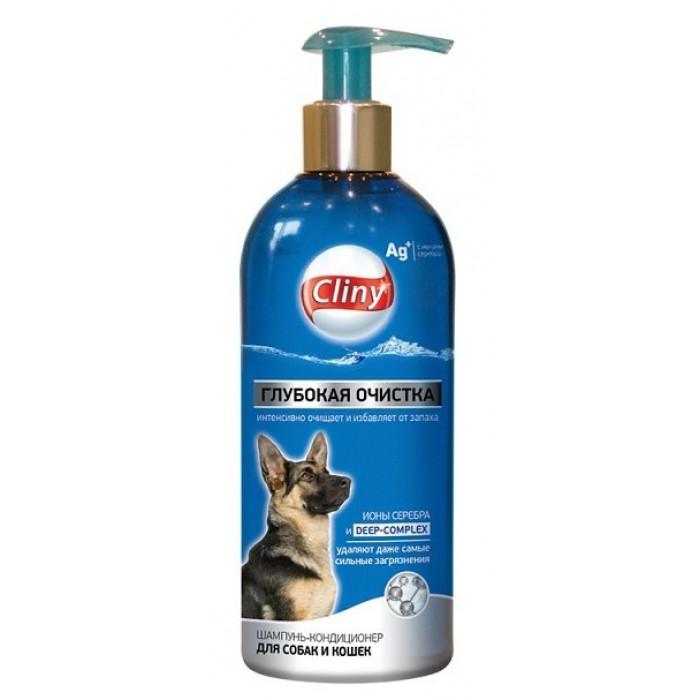 """Cliny Шампунь-кондиционер """"Глубокая очистка"""", для собак и кошек, 300 мл"""