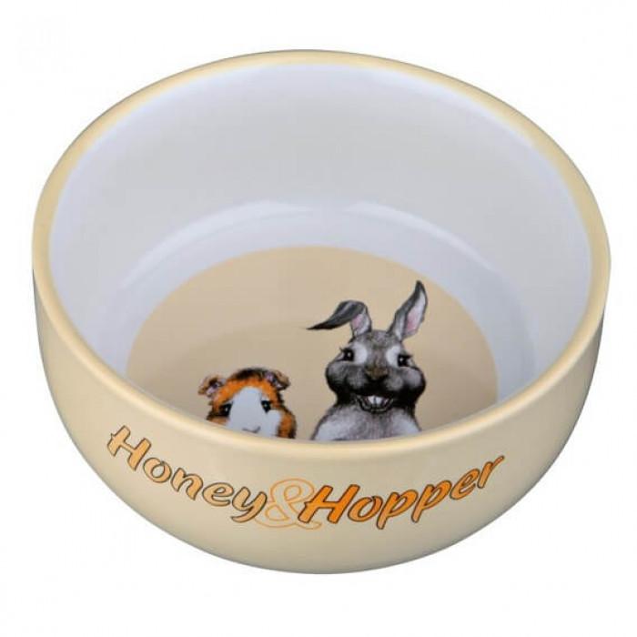 """Trixie Миска керамическая с рисунком """"Honey & Hopper"""" 250 мл/ф 11 см"""