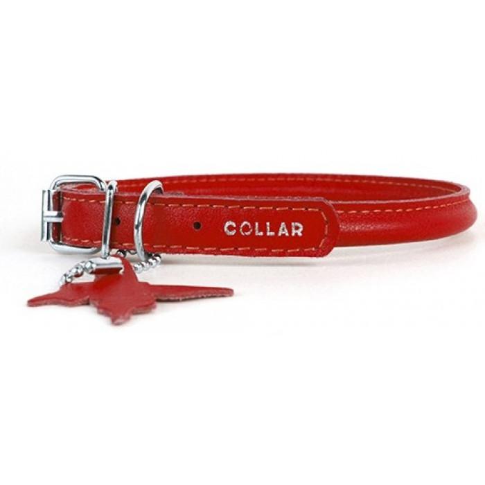 """Ошейник для собак Collar """"Glamour"""", круглый (цвет: красный), 10 мм х 33-44 см"""