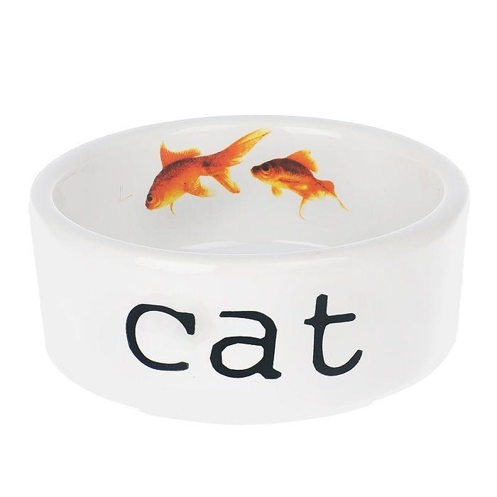 Миска фарфоровая для кошек Shapshot, 300 мл