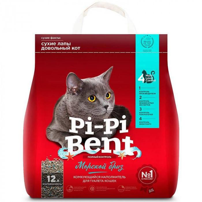 """Pi-Pi-Bent Комкующийся наполнитель """"Морской бриз"""" (пакет), 5 кг"""