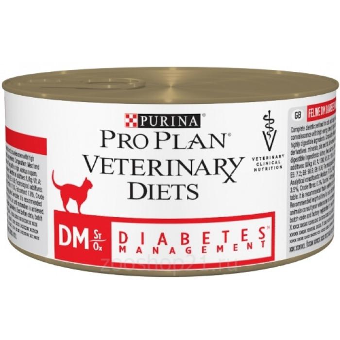 Корм Pro Plan Veterinary diets DM для кошек при диабете, 195 г