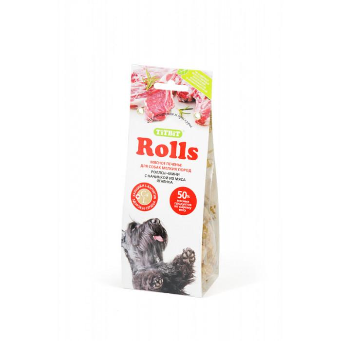 Лакомство Печенье Rolls мини с начинкой из мяса ягненка для собак мелких пород
