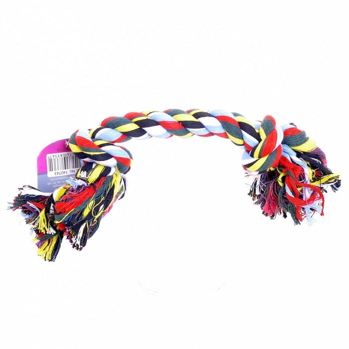"""Papillon Игрушка для собак """"Веревка с 2 узлами"""", хлопок, 23 см"""