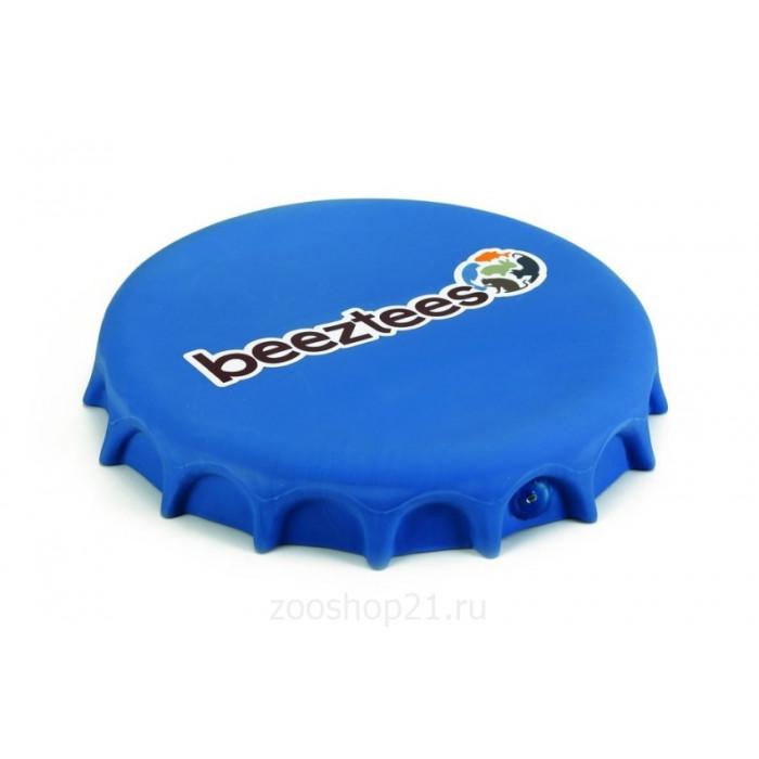 """Игрушка для собак """"Фрисби-крышка от бутылки"""", синяя, 24 см"""