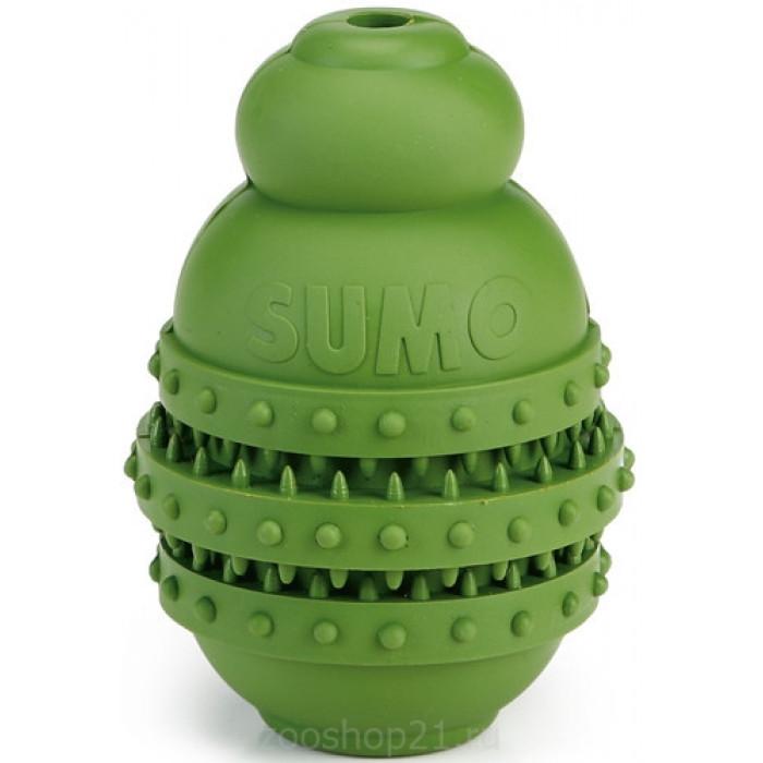 """Игрушка для собак """"Sumo Play"""", для зубов, зеленая, 6х6х8,5 см"""