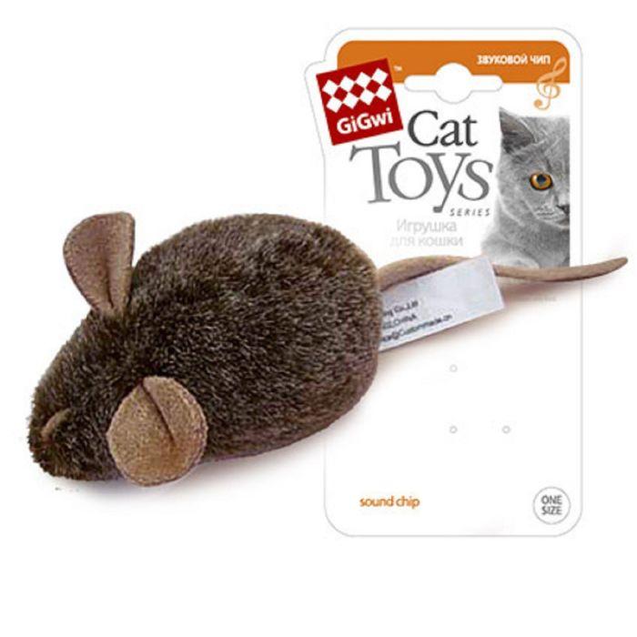 """Игрушка для кошек """"Мышка"""" с музыкальным механизмом, 15 см"""